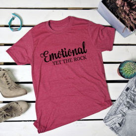 Emotional yet the rock_v2. t-shirt