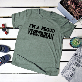 I'm a proud vegetarian. t-shirt