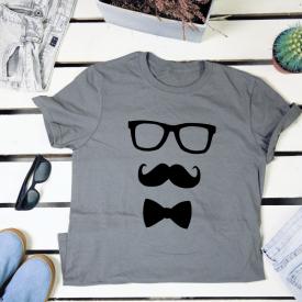 Hipster mustache. t-shirt
