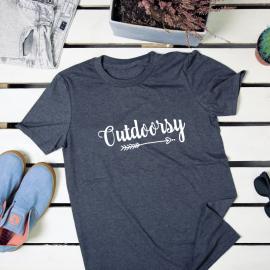 Outdoorsy. t-shirt