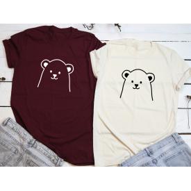 Bear couple t-shirt set