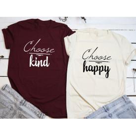 Choose kind, happy couple t-shirt set