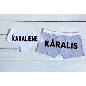 Karalis un karaliene couple's underwear set