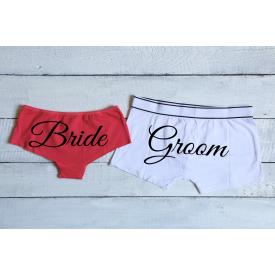 Bride and Groom couple's underwear set