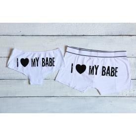 I love my babe couple's underwear set