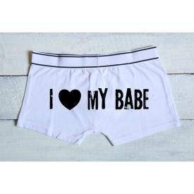 I love my babe men's underwear