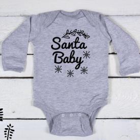 Santa baby bodysuit
