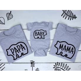 Papa, baby and mama bear set