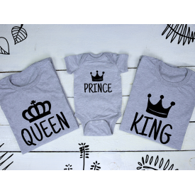 Queen, prince and king set