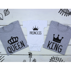 Queen, princess and king set