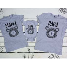 Papa, baby and mama bear v2 set
