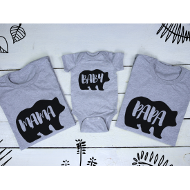 Papa, baby and mama bear v3 set