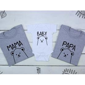 Mama, baby, papa bear set