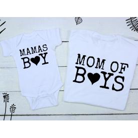 Mamas boy, mom of boy bear set