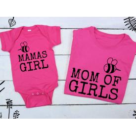 Mamas girl, mom of girl set