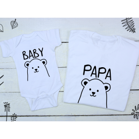 Baby, papa bear set