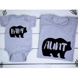 Baby, aunt bear set