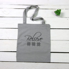 Believe tote canvas bag