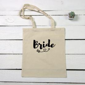 Bride tote canvas bag