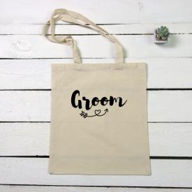 Groom tote canvas bag