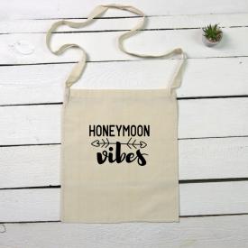 Honeymoon vibes tote canvas bag
