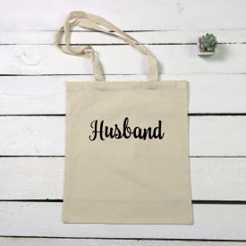 Husband tote canvas bag