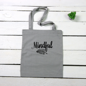 Mindful tote canvas bag