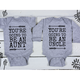You're going to be an aunt, uncle bodysuits