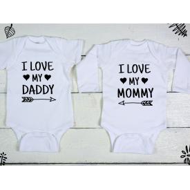 I love my daddy, mommy bodysuits